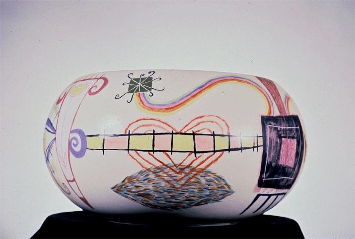 "Large Playful Bowl 6"" x 10"" diameter [Sold]"