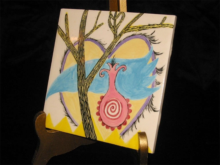 """In the Trees Tile 6½"""" x 6½"""""""