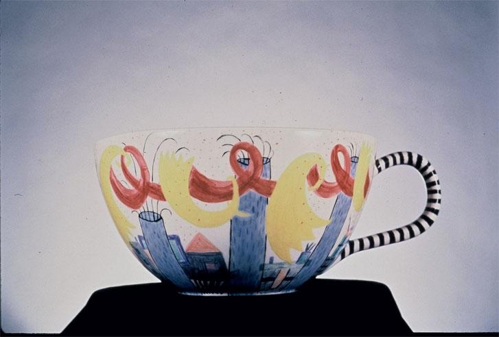 "Large Tea Cup 10"" x 12"" diameter"