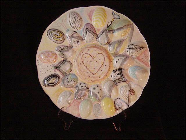 """Heart Egg Platter 13"""" diameter"""