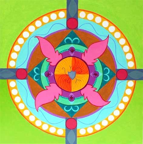 "Mandala with Shield 30"" x 30"""
