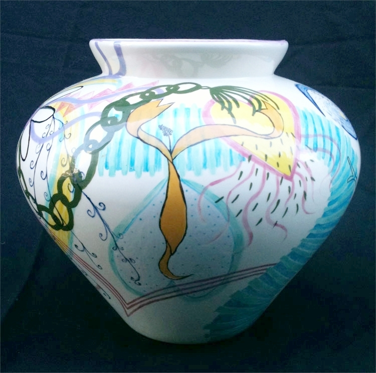 "Dancer Vase 9"" x 10"" diameter"
