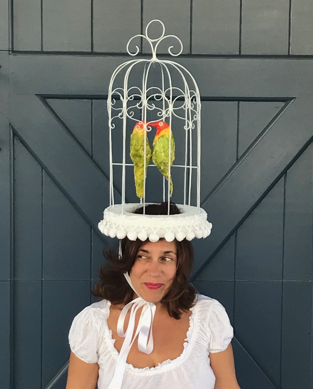 day 279. Birdcage Fascinator
