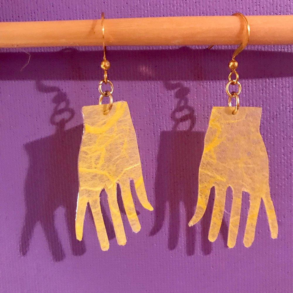Day 299. Frida Kahlo inspired Paper Earrings