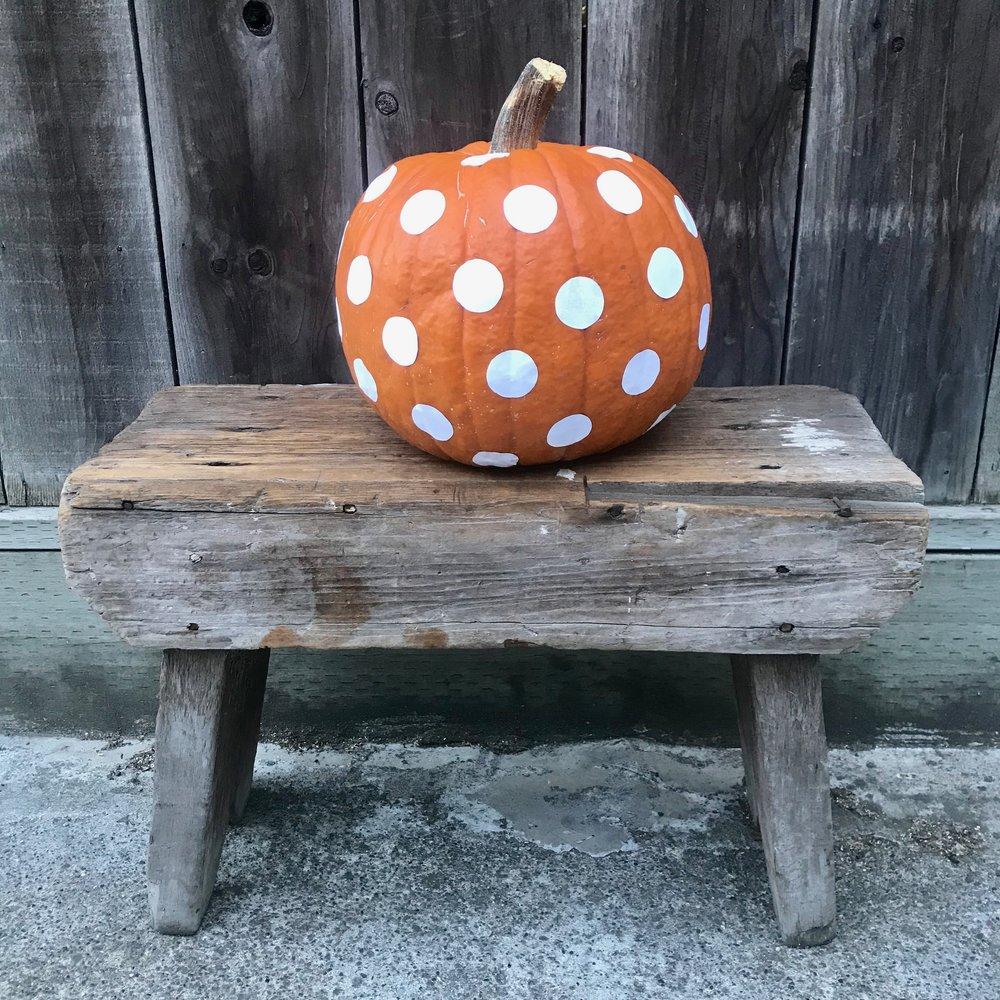 Day 302. Polka Dotted Pumpkin