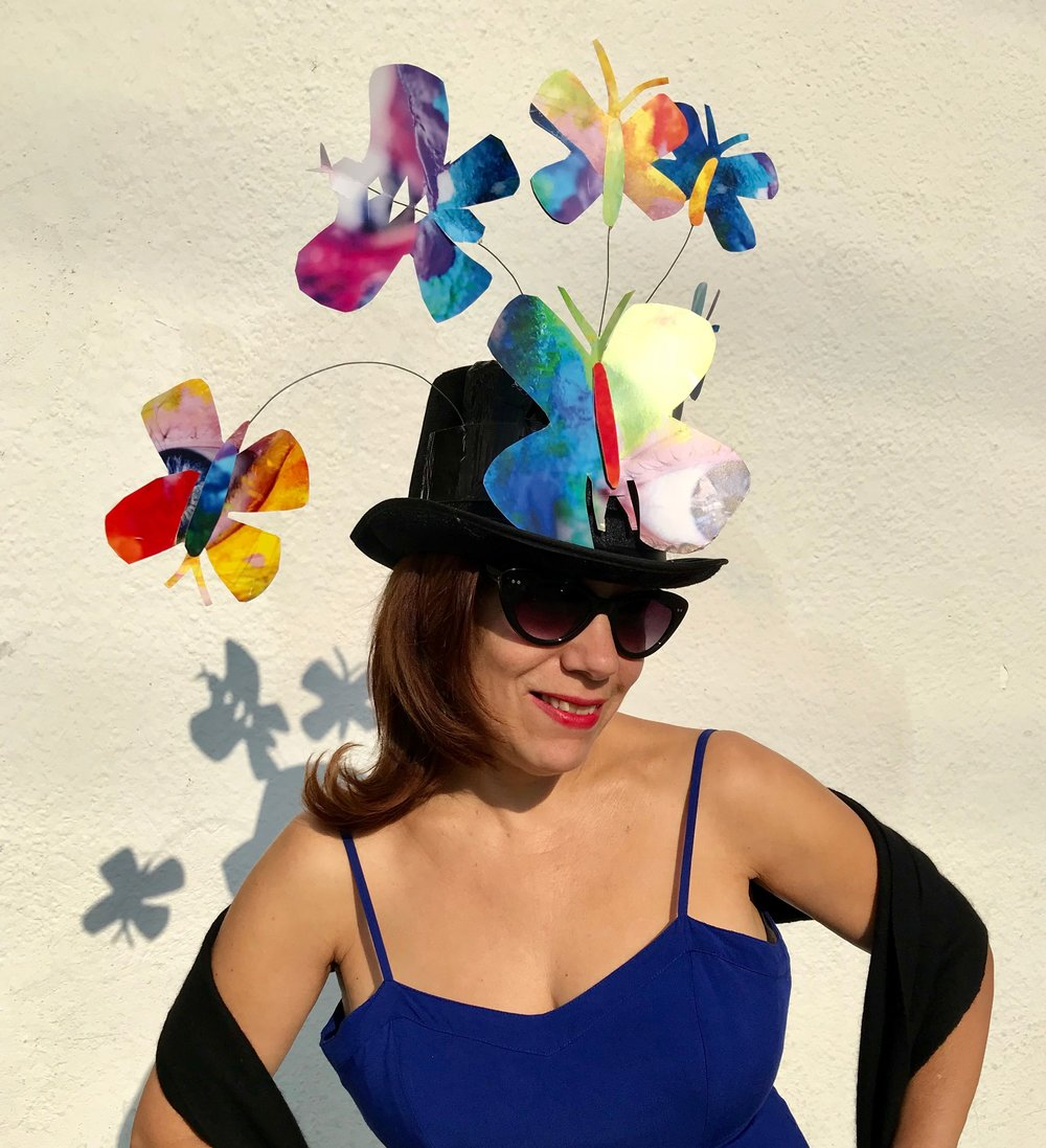 Day 316. Made a Butterfly Hat