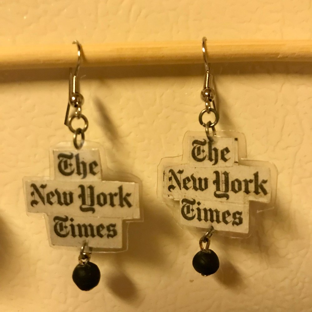 Day 318. The New York Times Earrings