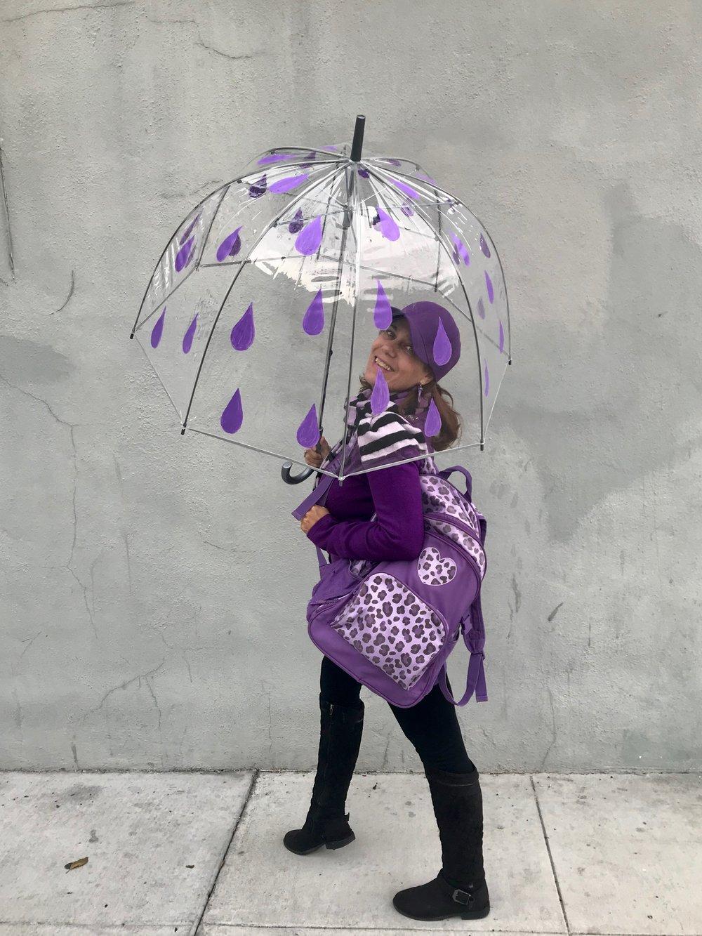 Day 338. I painted a Purple Rain Umbrella