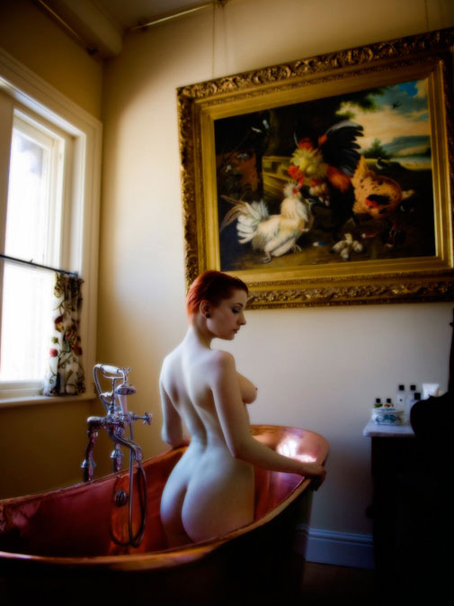 Nude in the copper bathtub. Somerset, UK (2009)