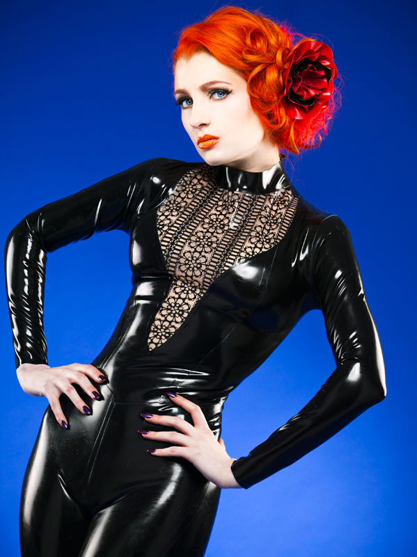 Cathouse Clothing Latex lace catsuit. Leeds, UK (2013)