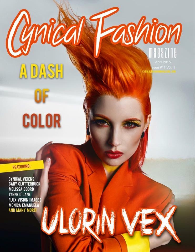 Cynical fashion magazine cover