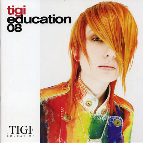 TIGI professional education brochure cover