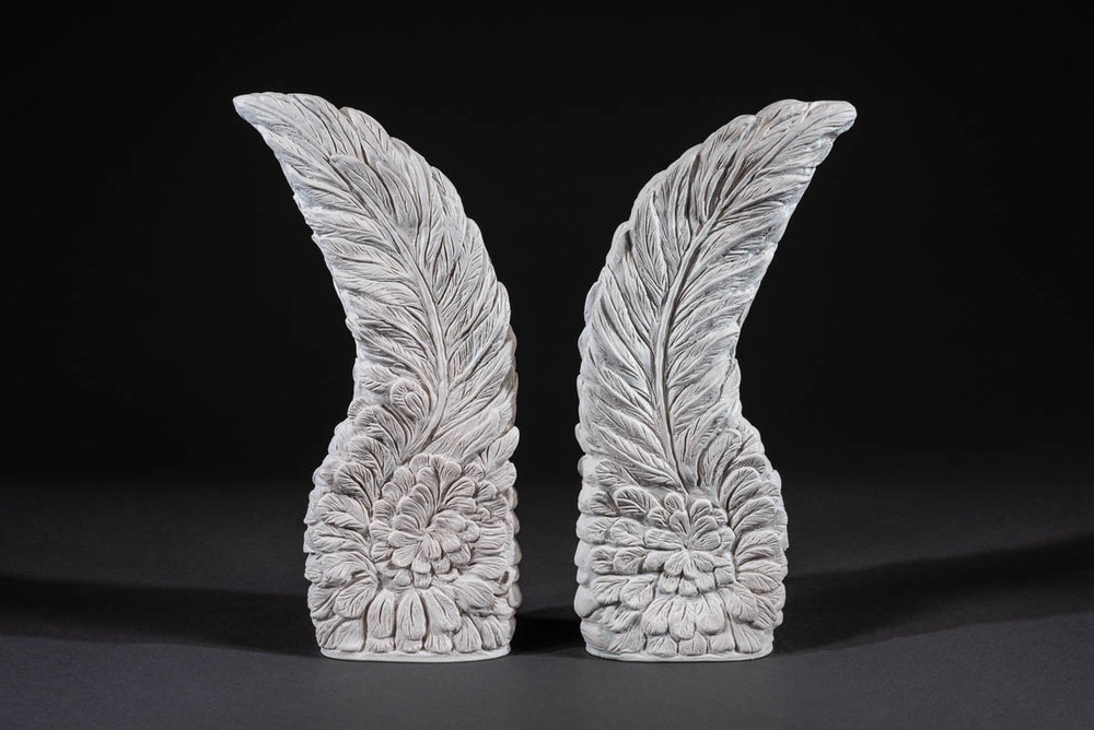 "Angel Wings - Angel wings symbolize the love, power, and grace of the benevolent celestial beings who guide and protect us on our earthly journey.Cast marble. Measures 13""ht x 5""wd.SHOP HERE"