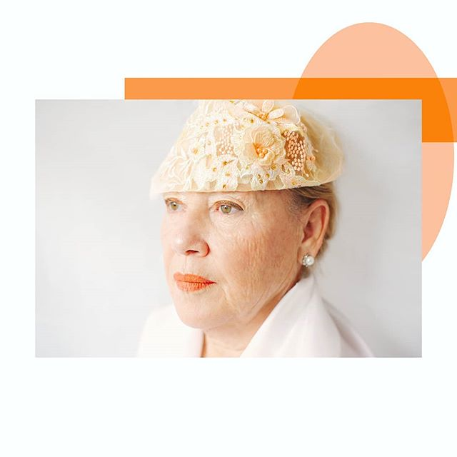 """Today is """"orange"""" day and because she loves an orange makeup and has kind of an orange yellow color in the middle of her Iris, I've chosen to edit one of the portraits I took of her in her last visit. 🧡"""
