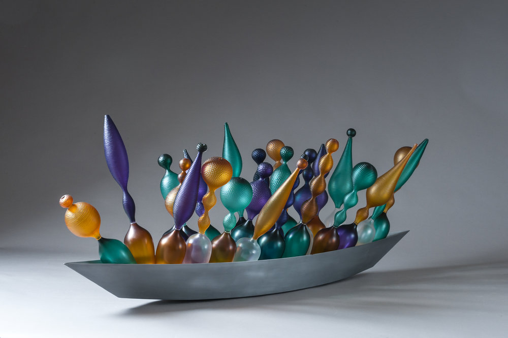 boats, Philip Baldwin, Monica Guggisberg, Glass, Sculpture, metal, contemporary