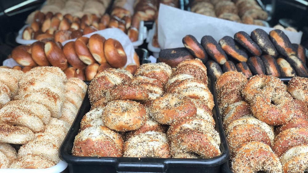 Belle's is… - real bagels done right. It's pretty simple; hand-rolled, boiled and baked golden. Toppings on both sides. No dough conditioners.