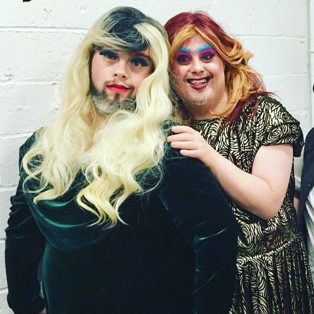 Queens! Horrora Shebang and Gaia Callas #dragsyndrome #queen #drag #downsyndrome