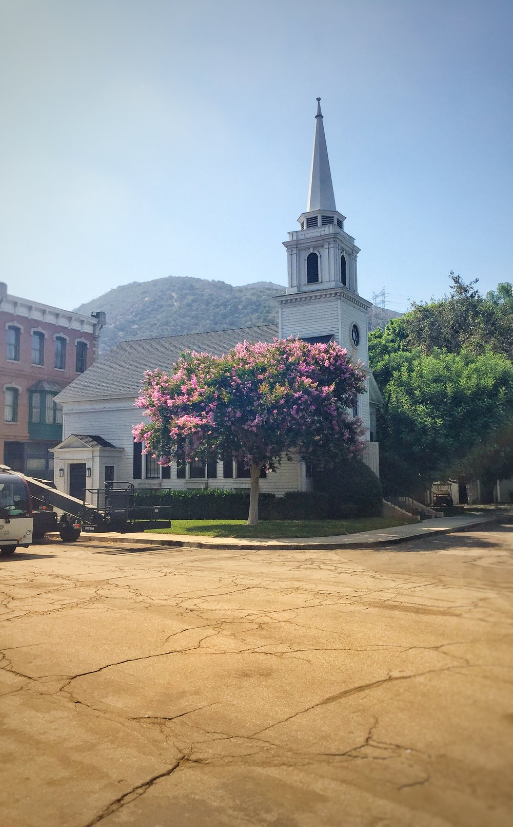Chapel in the Warner Bros backlot. This lovely set can be seen in  Gilmore Girls.