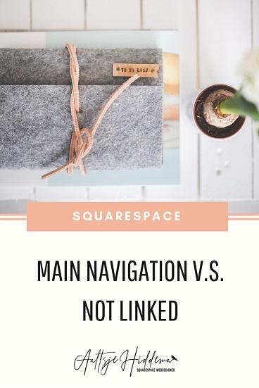 main navigation vs not linked