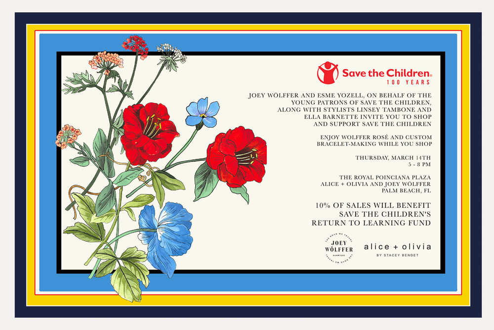 Shop and Support Save the Children - Thursday, March 14th: 5 - 8pmThe Royal Poinciana Plaza, Palm Beach, FL