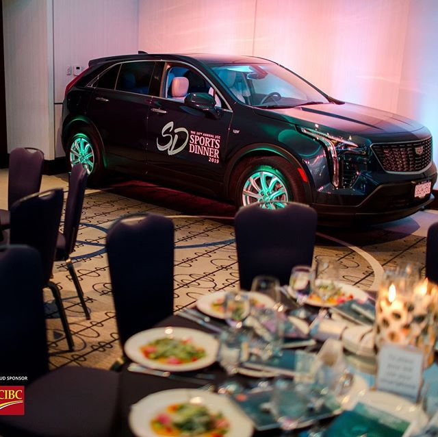 When you need the best auction prize ever, you go to @dueckgm ! Our deepest gratitude for the beautiful All New Cadillac XT4, and congratulations to the lucky winner! #JCCSportsDinner