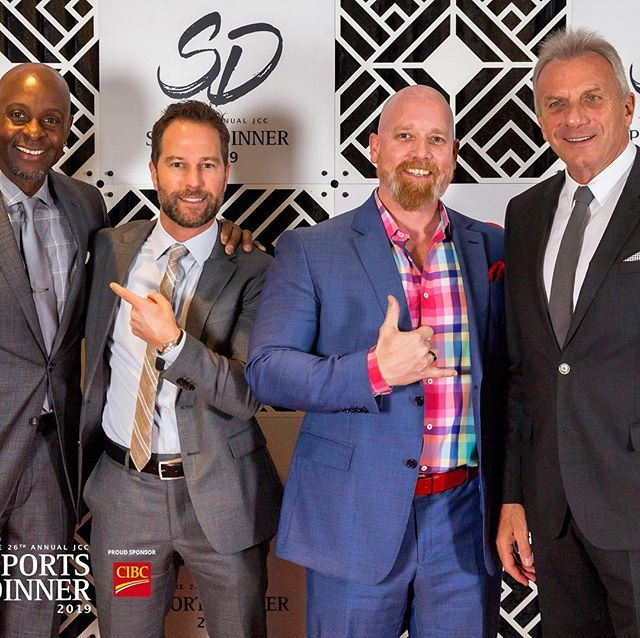 Many of our supporters met their Sports Idols at #jccsportsdinner , all thanks to Sponsors like Arix Developments @beediebuilt Belmont Properties @bosaproperties CMLS Financial Devonshire Properties Scotia Wealth, MLT Aikins and @West Coast Reduction. We are so grateful to you all!!