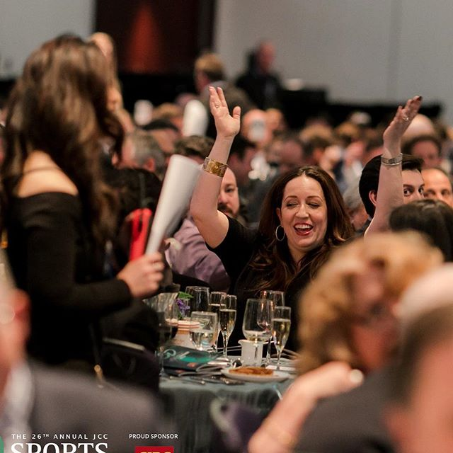 """And the bidder goes wild at #jccsportsdinner !  Our live auction is never disappoints.  Thank you to Playoffs Sponsors @pwc_canada @rbc Realtech Capital Group @scotiabank @ScoutTechGuides @ShapeProperties @TheBurrard @wyliecrumpltd and @WolrigeMahonLLP"""" #Grateful"""
