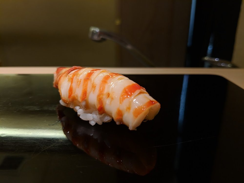 "Kuruma ebi. Dare I say I enjoyed this ""smaller"" serving more than the larger serving I had at Jiro."