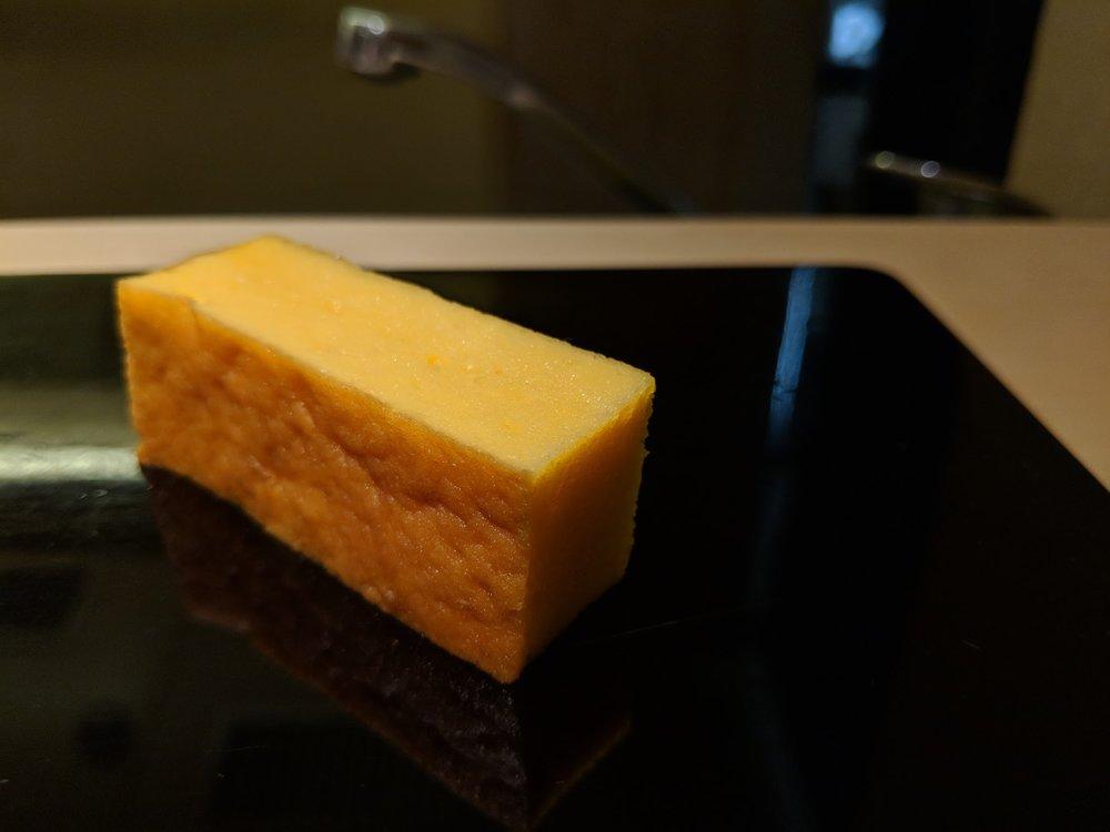 Tamago, my favourite sushi dessert.