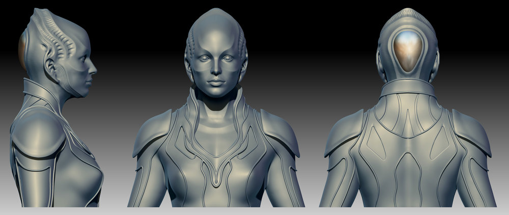 Personal Work_Scifi Character WIP