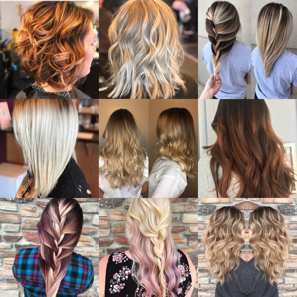 Color Services - Full color……………………………….…………..$82+Regrowth color……………………$67+Full Foil……………………………….……………..……$96+Partial Foil………………………………….………$84+Balayage……………………………………………….…….$131+*Color Corrections are Priced upon consultation