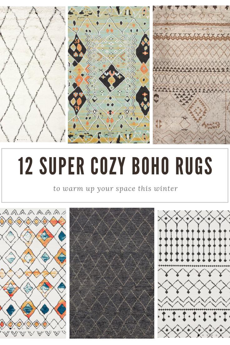 12 Super Cozy Boho Area Rugs 12 Pieces
