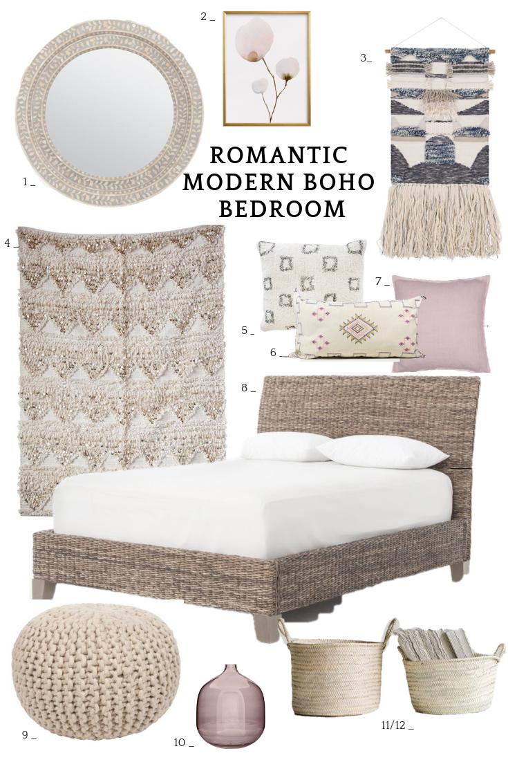 10 Romantic Modern Boho Bedroom Ideas — 10 PIECES