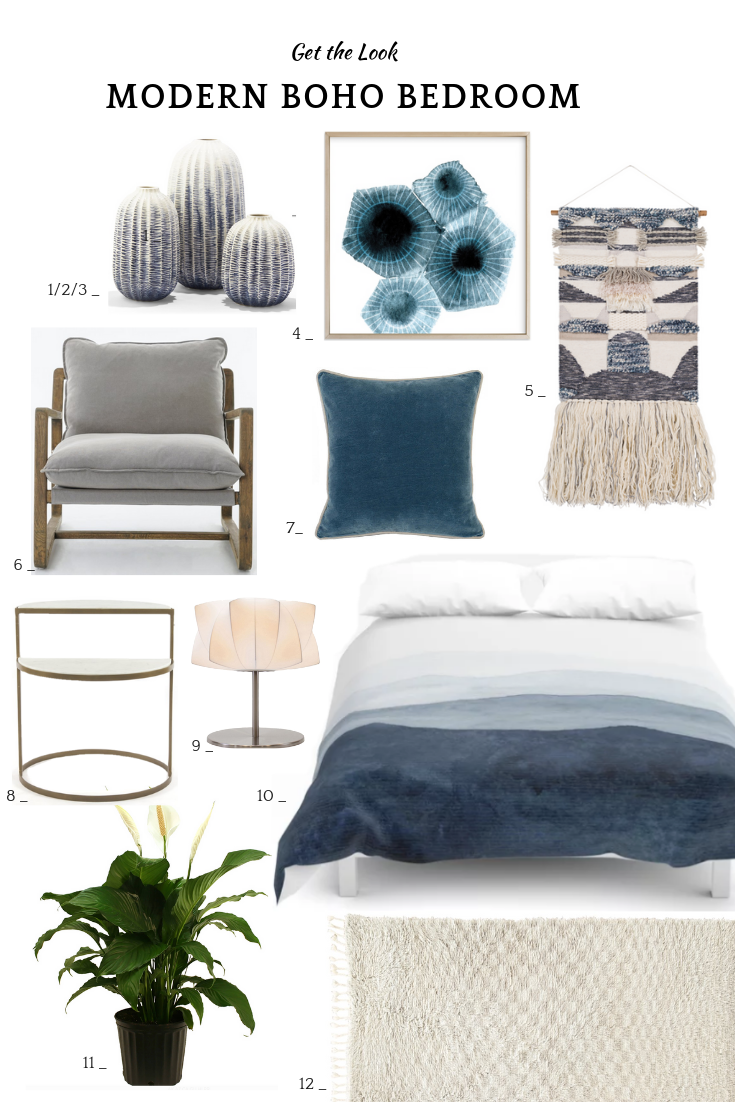 12 Modern Boho Bedroom Ideas In Blue And Gray 12 Pieces
