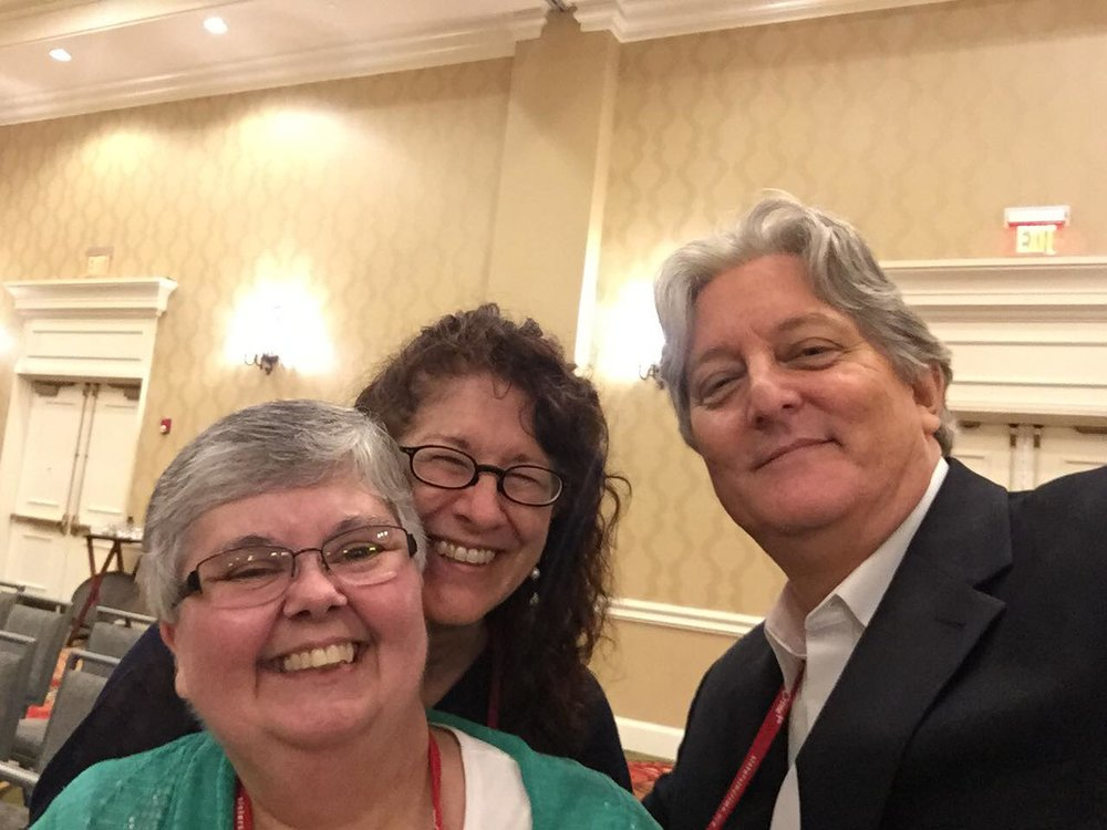 Me with Lesa and James W. Ziskin -