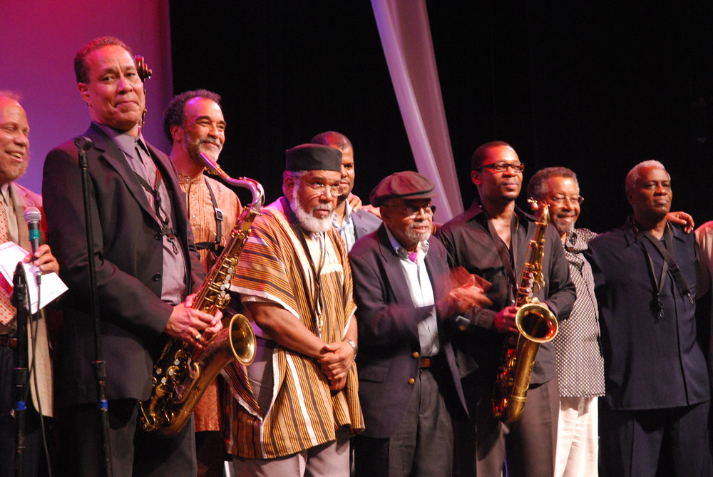 Eric Jackson, Bill Pierce, Leonard Brown, Carl Atkins, Emmett Price, Amiri Baraka, Ravi Coltrane, Syd Smart, Bill Thompson  Copyright © Craig Bailey