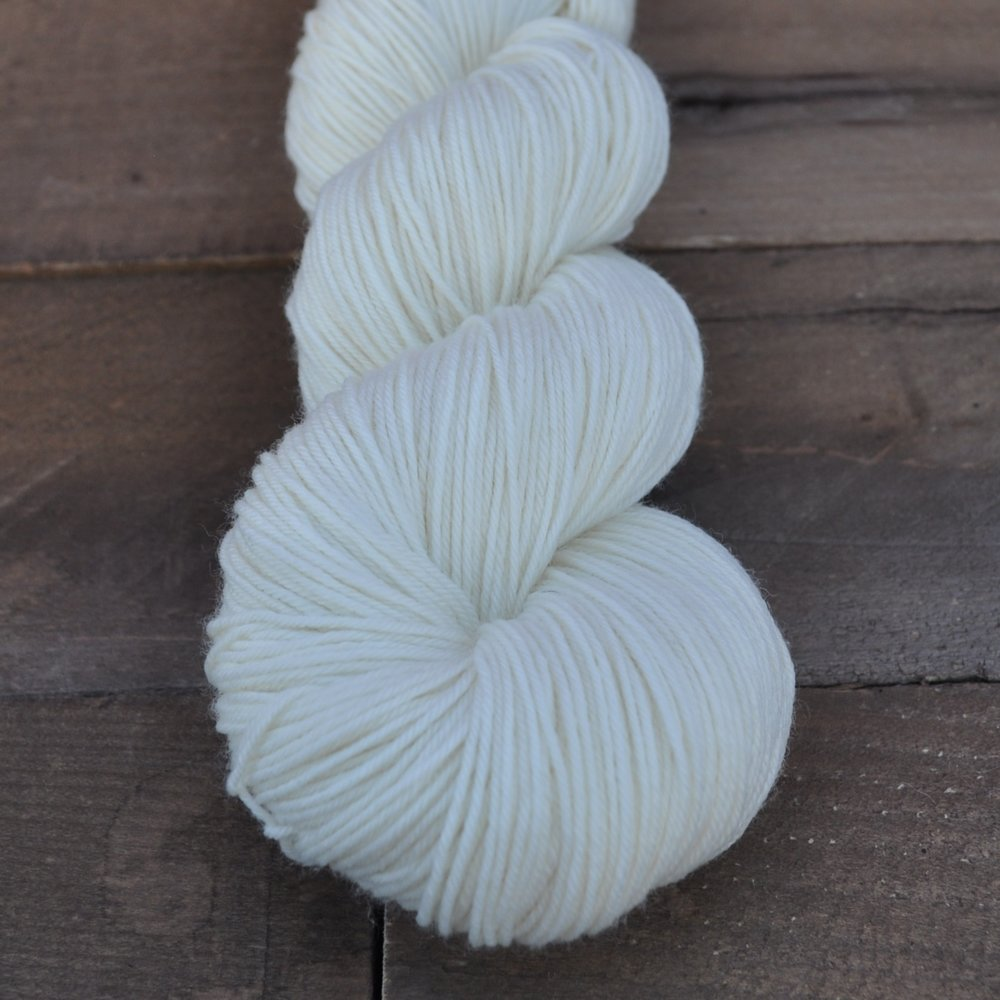 BOUNCY SOCK - this super round addition to our lineup has all the strength of sock yarn without the nylon! its 4-ply construction lends beautiful stitch definition and it blooms like a dream! insanely soft, this one is perfect for socks, shawls, and sweaters alike!100% superwash merino wool, 4-plyfingering weight438 yd/100 g