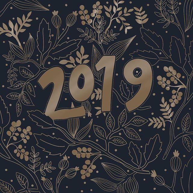 Shiny. New. Year. Happy new year everyone. Hope it is a happy one 😊 . . . #illustrationartists #procreate #ipadlettering #2019 #newyear #ipadillustration