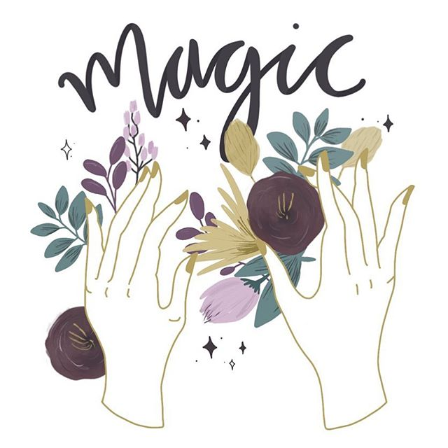 Creating makes me feel closer to nature, magic and myself. 💜 . . . #illustrationartists #procreate #ipadlettering #procreatebrushes #ipadillustration #florals #magic