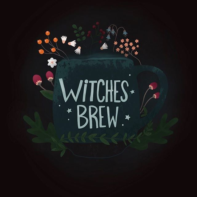 The sweet, sweet potion I cannot start any day without. That beautiful, golden nectar; coffee 👌🏻 . . . #womenofillustration #illustrationartists #procreate #ipadlettering #witch #coffee #illustration #floral #procreateapp #coffeeshop #magic