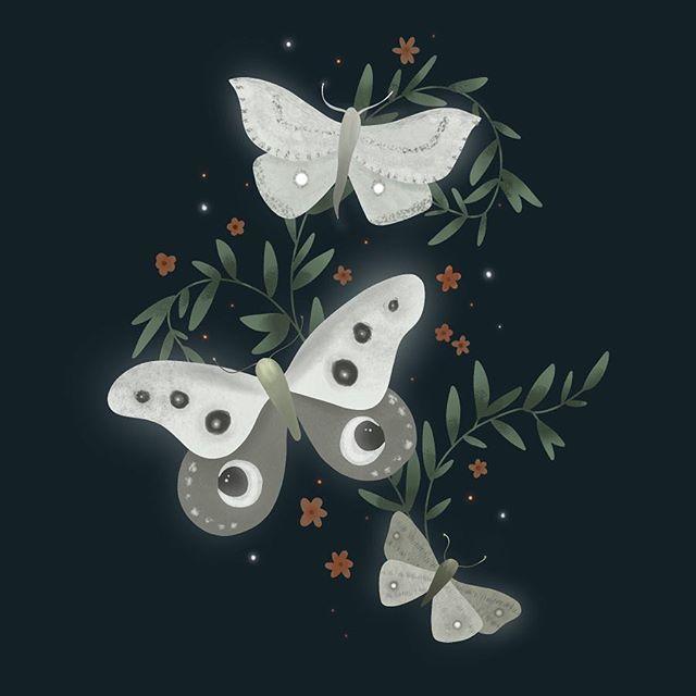 Crave beauty. A Moths Ball. . . . #womenofillustration #illustrationartists #illustration #procreate #ipadlettering #procreatebrushes #procreateapp #moth #beauty #igdaily #art #glowup