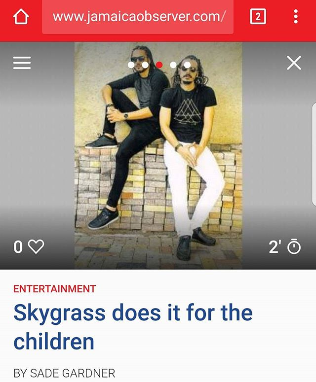 Sky article on @cosmicrotation in todays Jamaica Observer. See you live at the next @cosmicrotation Jan 27th. http://www.jamaicaobserver.com/entertainment/skygrass-does-it-for-the-children_120600?profile=1116  @simonskygrass @rastasheed @rorystonelove #blackdub