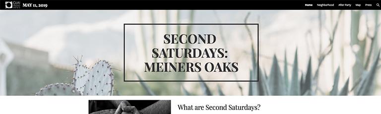 Second Saturdays: Meiners Oaks