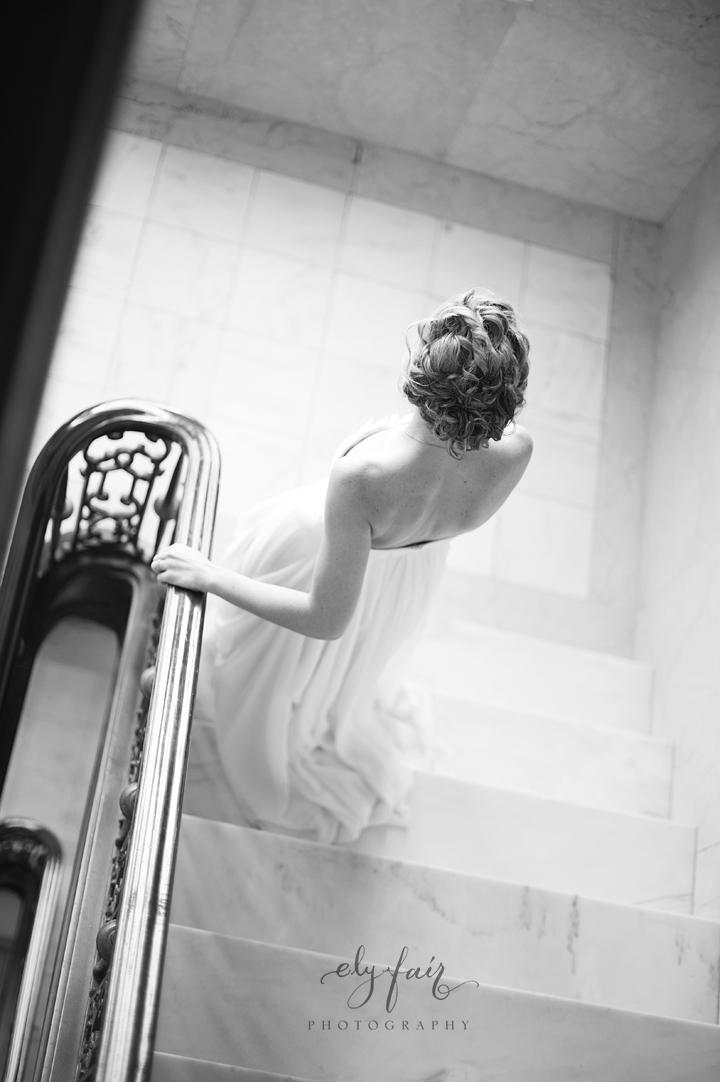 Ely Fair, Bride on Stairs