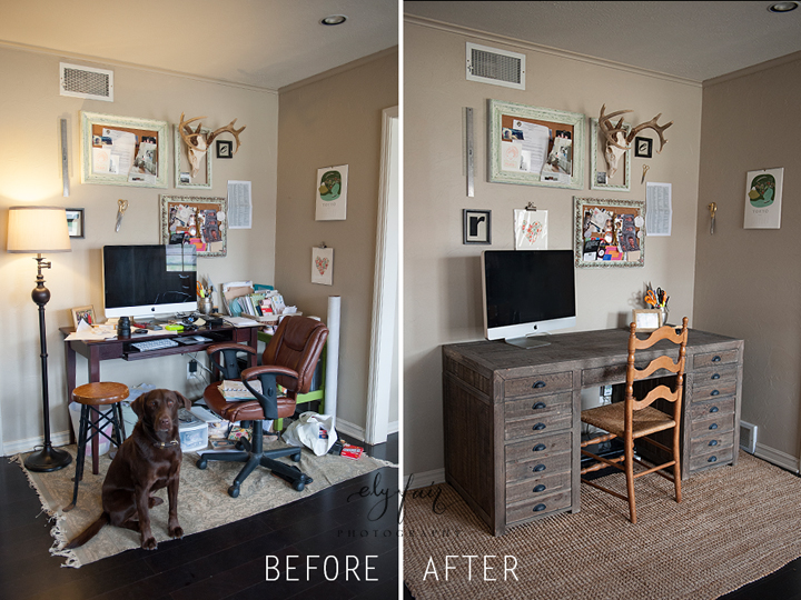 Desk Before & After