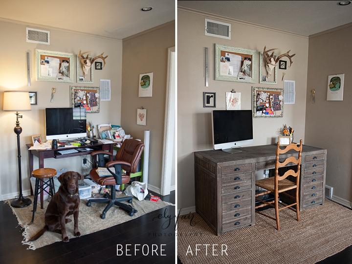 Desk Before & After