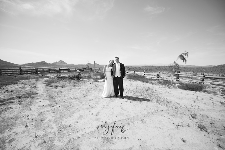 Bride & Groom in Desert