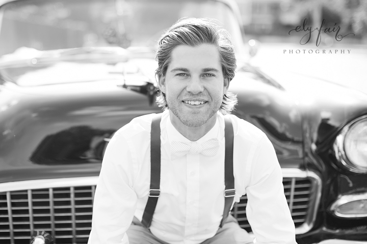 Groom with Leather Suspenders, Ely Fair Photography