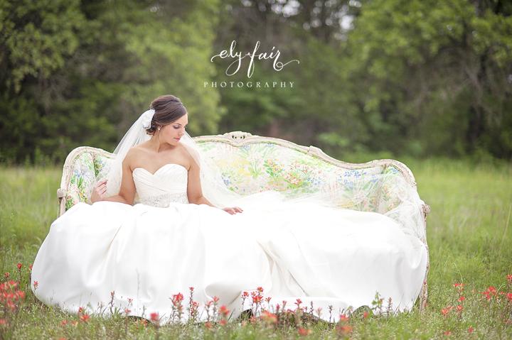 Bridal Portrait in Field