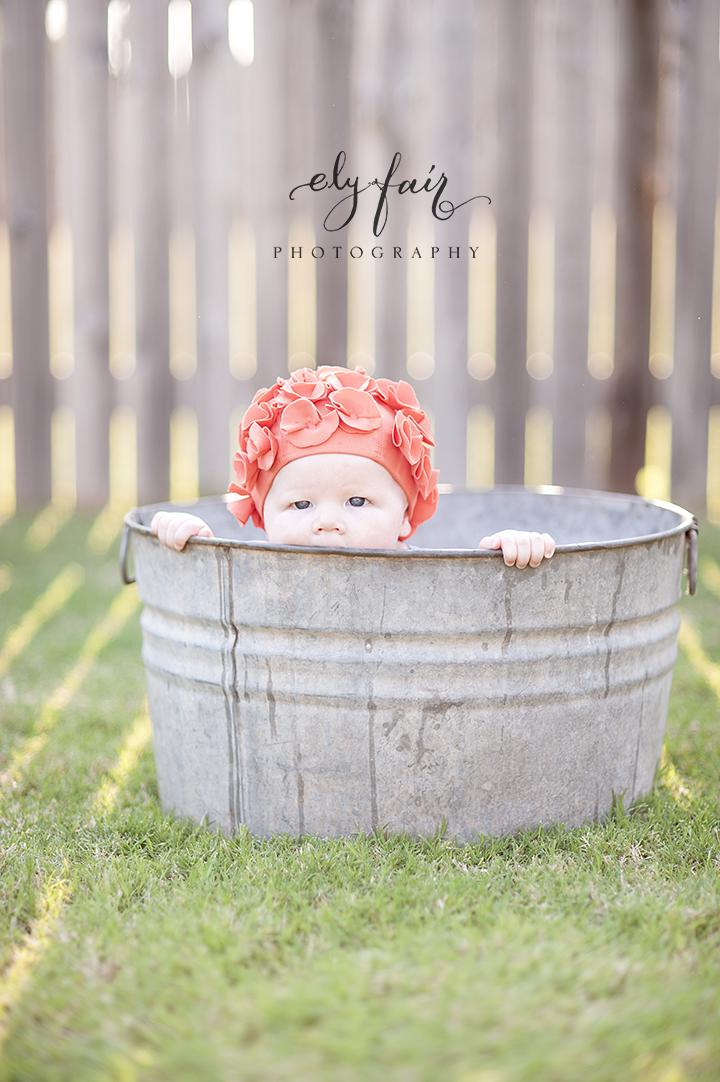 baby in swim cap